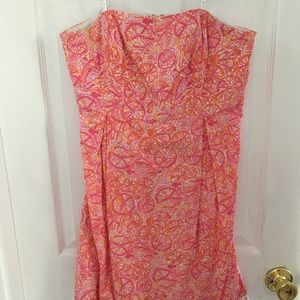 Lilly Pulitzer Strapless Dress Size 10 Bicycle